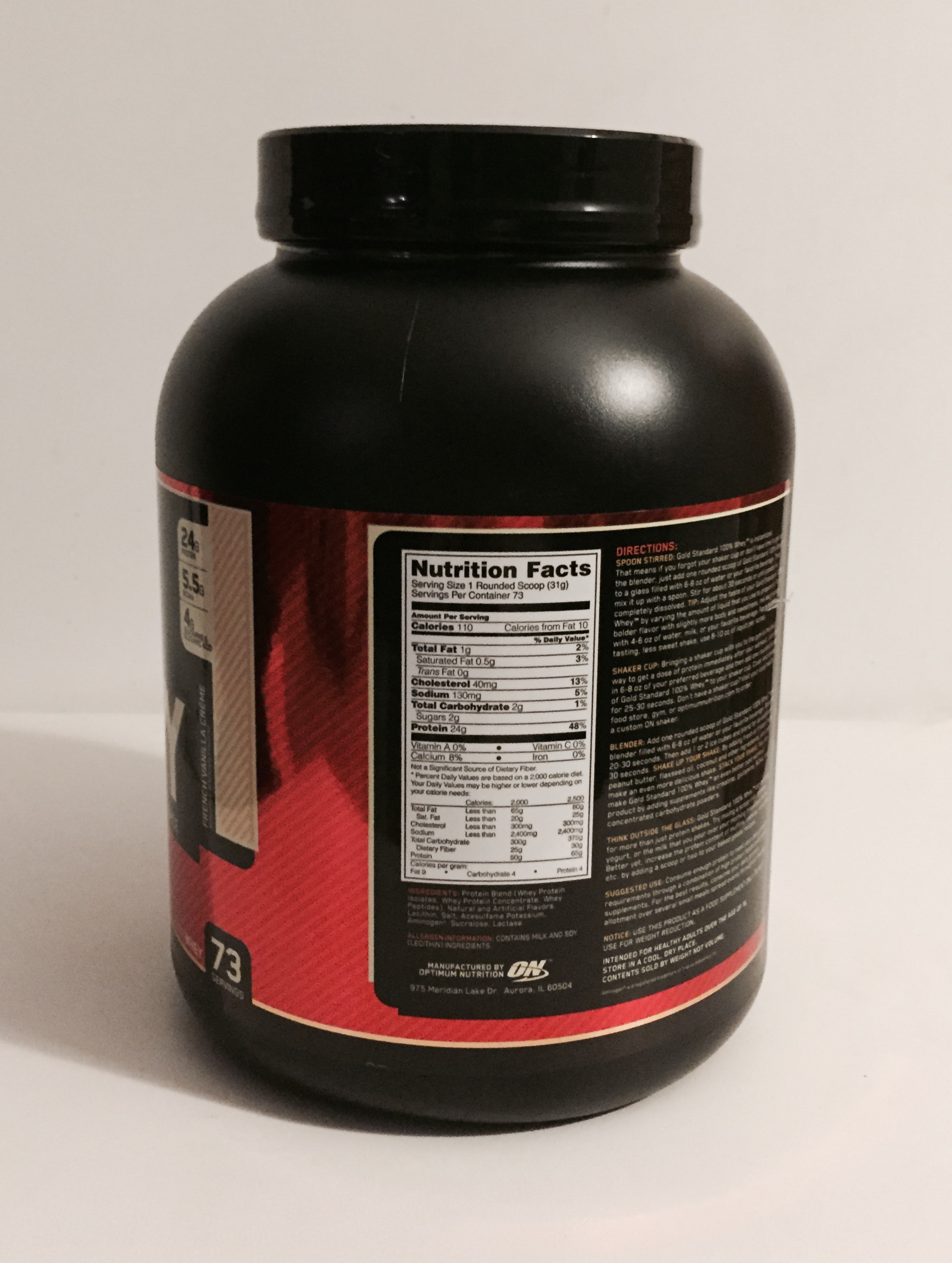 In addition to making Gold Standard % Whey, the worlds' best-selling whey protein, Optimum Nutrition created the slowly digesting protein category with Gold Standard % Casein. Optimum Nutrition also created the anytime energy category, which remains dominated by Essential Amino Energy.